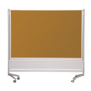 D.O.C. Partition Dura-Rite Markerboard/Natural Cork 1.8mH x 1.8mW