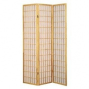 MAN CAVE 3 Panel Natural Oriental Shoji Screen / Room Divider