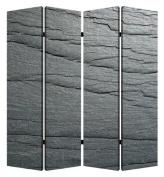 Screen Gems Black Slate 4-Panel Room Divider