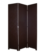 Screen Gems Criss Cross Faux Leather Room Divider - 52W x 71H in.