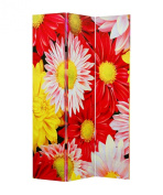 Screen Gems Daisy And Rose Double Sided Room Divider