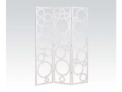Acme Furniture 98025 Trudy White 3-Panel Wooden Screen