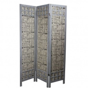 Essential Décor Entrada Collection Paulownia Room Divider, 44cm by 180cm