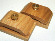 1 Pair Mini Ash Wood Hang-Ups Quilt Clamps Clips - Small
