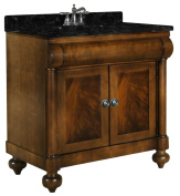 Kaco international 348-3000 John Adams 80cm Vanity in a Brown Cherry Sherwin Williams Finish, Vanity Only