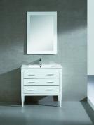 Fine Fixtures Exclusive Ironwood 90cm White Vanity Set