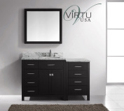 Virtu USA 140cm Caroline Parkway - Espresso - Single Square Sink Bathroom Vanity - Left