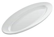 American Metalcraft MEL49 The Endurance Melamine Collection Boat Platter, 60cm , White