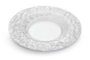 Rosseto 25cm Faux Glass Round Platter, Clear