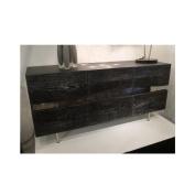 Wakley 3-Door Buffet, Seared Oak Grey Oxidised Oak