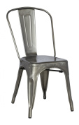 Chintaly Imports Galvanised Steel Side Chair, Set Of 4