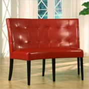 Modus Furniture 2Y9766D Bossa Dining Height Banquette, Red Leatherette