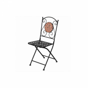 Essential Décor Entrada Collection Terracotta Chair, Black