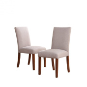 Dorel Asia Linen Chairs, Taupe, Set of 2