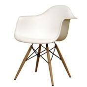 Fine Mod Imports Wood Leg Dining Arm Chair