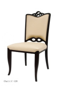 International Design USA Palace Leather Dining Chairs, Set of 2