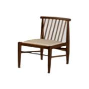 John Ruskin Dining Chair Grey Oxidised Oak