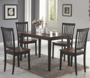 Coaster 5-Piece Dining Set, Wood Table Top with 4 Chairs