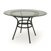 Pastel Westport 120cm Round Glass Dining Table In Roletta Brown