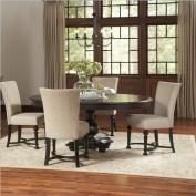 Riverside Furniture Williamsport 5 P iece Dining Table Set in Nutmeg/Kettle Black