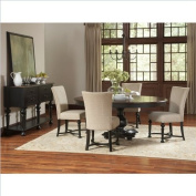Riverside Furniture Williamsport 6 P iece Dining Table Set in Nutmeg/Kettle Black