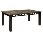 Standard Furniture Gateway Grey Rectangular Dining Table In Dark Chicory Brown