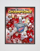 2007-2008 Detroit Red Wings Stanley Cup Champions Composite Double Matted 20cm x 25cm Photograph