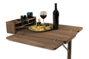 SeaTeak 60392 Cockpit Table with Folding Leaves and Four Drink Holder
