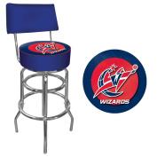 NBA Washington Wizards Padded Swivel Bar Stool with Back