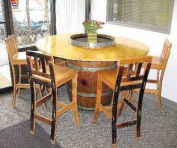 Round Table Top, Open Slot, 120cm D x 120cm W