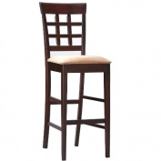 Coaster Bar Stools, Solid Wood Cappuccino with Wheat Back,80cm H,Set of 2