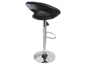 Set of 2 Pu Leather Modern Adjustable Swivel Barstools Hydraulic Chair Bar Stools