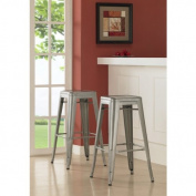 Tabouret 80cm Metal Barstools (Set of 2).