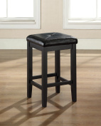 Crosley Furniture Upholstered Square Seat Bar Stool, 60cm Seat Height, Set of 2