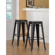 Tabouret 80cm Black Metal Bar Stools