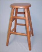 60cm Solid Oak Counter Stool in Oak Finish-Round Legs