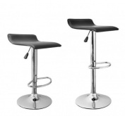 New Modern Adjustable Synthetic Leather Swivel Bar Stools Chairs B08 - Sets of 2