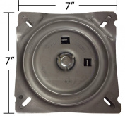 18cm Replacement Angled Bar Stool Swivel Plate w/ Memory Auto Spring Return Feature - Made in the USA - S4938