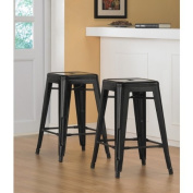 Tabouret 60cm Black Metal Counter Stools
