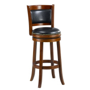 Mintra Cherry Finish Padded Back 70cm Barstool