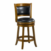 Mintra Dark Oak Finish Padded Back 60cm Counter Stool