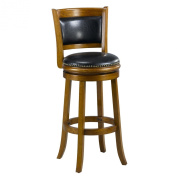 Mintra Dark Oak Finish Padded Back 70cm Barstool