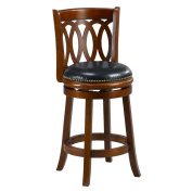 Mintra Cherry Finish Spiral Back 60cm Swivel Counter Stool