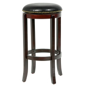 Mintra Cappuccino Finish Bicast Leather 70cm Swivel Barstool