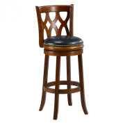 Mintra Cherry Finish Triple Crossback 70cm Barstool