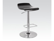 Acme Furniture 96259 Swivel Adjustable Stool - Black & Chrome