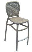 American Trading Company C09 JES BS WW Jessie Stackable Aluminium Frame All-Weather Wicker Barstool, White