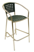 American Trading Company E06BS-GRN South Beach Barstool with Anodized Welded Aluminium Frame, Green