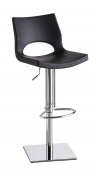 C203-3 Black Leatherette Height Adjustable Swivel Bar Stool