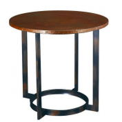 Hammary Nueva Round End Table in Copper